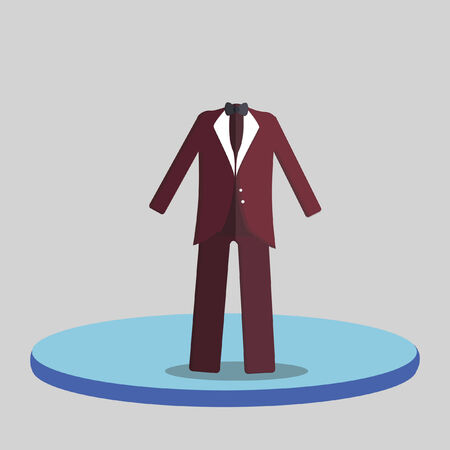 Illustration of of a suit Vector