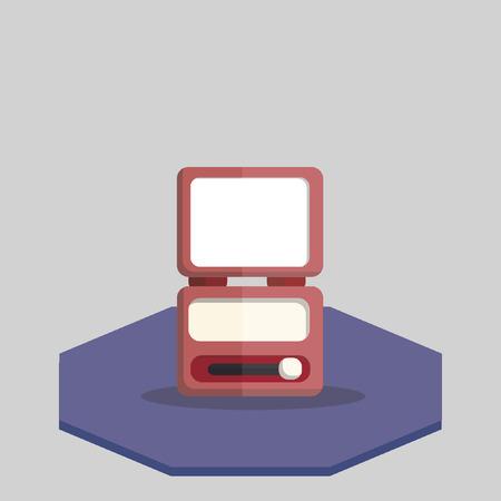 eyeshadow: Illustration of an eyeshadow