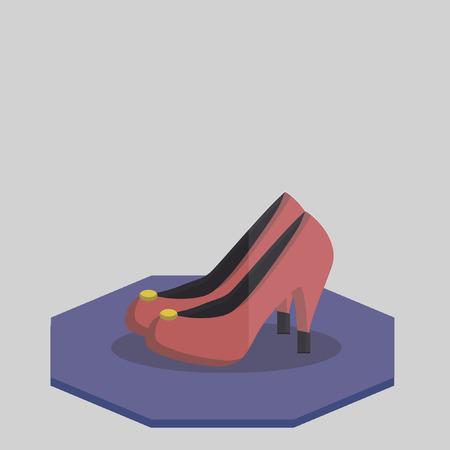 no heels: Illustration of a pair of heels