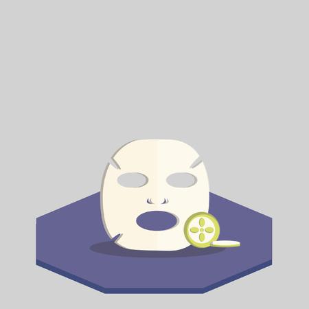Illustratie van gezichtsmasker
