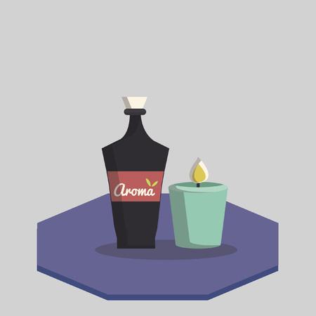 Illustration of aromatherapy Ilustração
