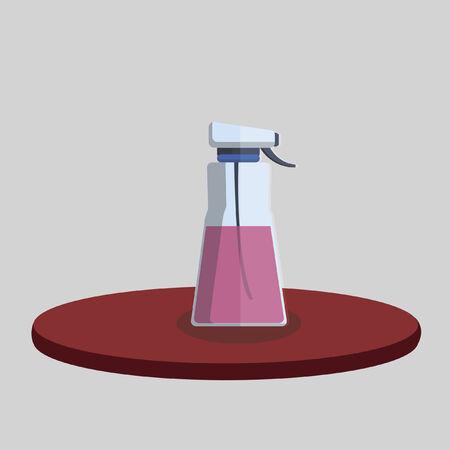 Illustration of a spray bottle