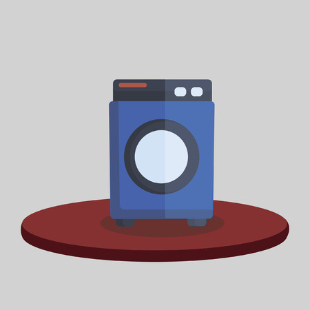 Illustration of a washing machine Vector