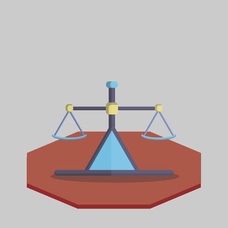 Illustration of a scale Reklamní fotografie - 31017446