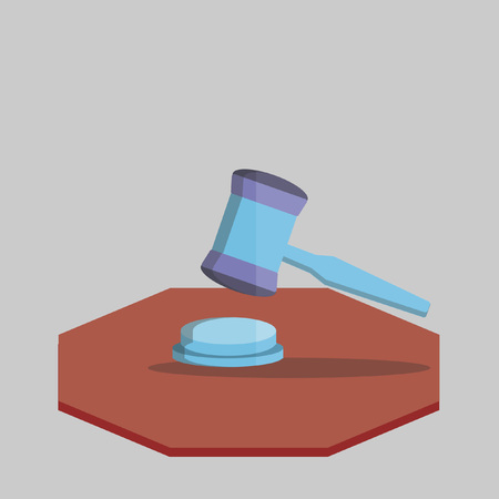 punctuate: Illustration of a gavel Illustration