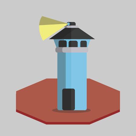 Illustration of a prison watch tower Illusztráció