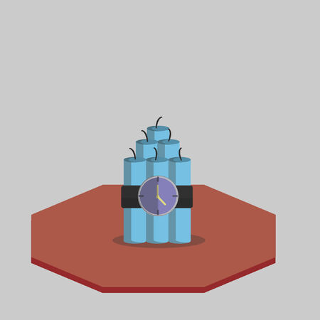 bomb: Illustration of a time bomb