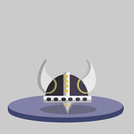 Illustration of a horned helmet Иллюстрация