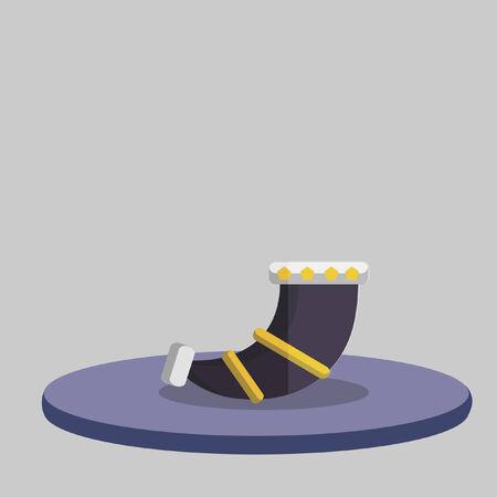 Illustrazione di un shofar Archivio Fotografico - 31017470