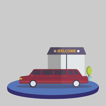 Illustration of a limousine service