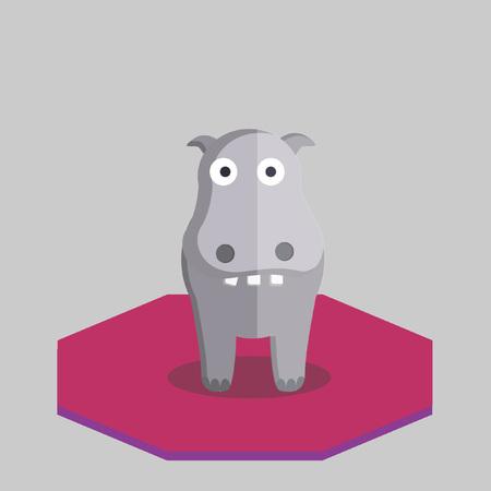 Illustration of a hippopotamus Vector