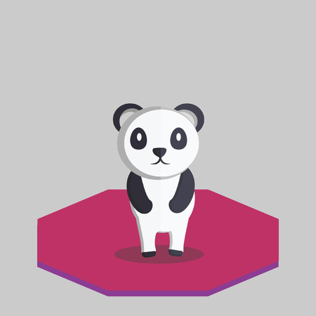 Illustration of a panda bear Vector