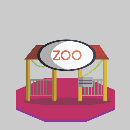 Illustration of a zoo Vector