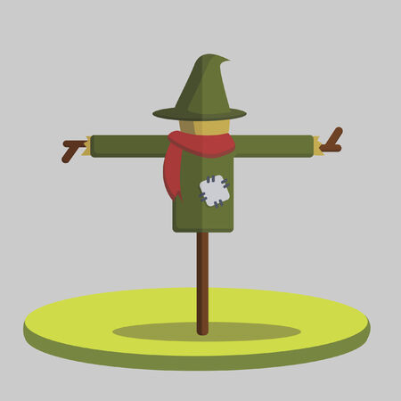 Illustration of a scarecrow