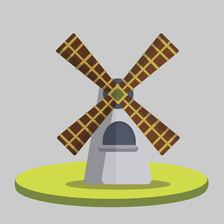 Illustration of a windmill Vector