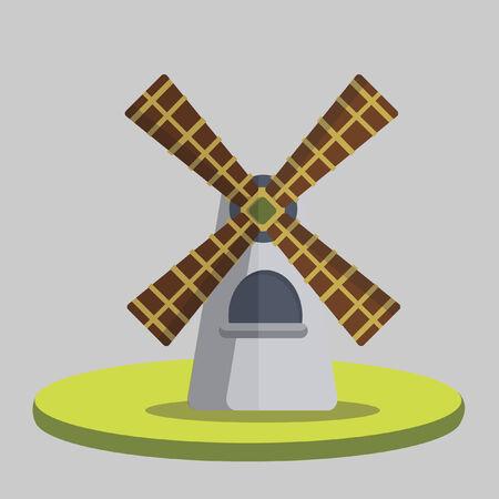 Illustration of a windmill Vector