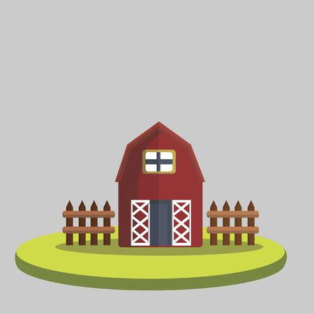 Illustration of a farmhouse Vector