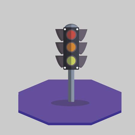 Illustration of a traffic light Vector