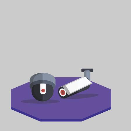 Illustration of cctv Illusztráció