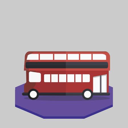 二階建てバスのイラスト