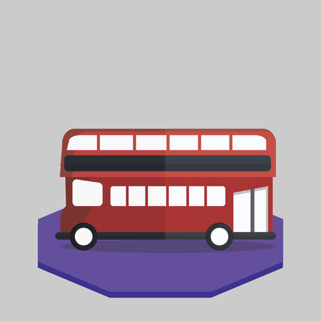 Illustration of a double-decker bus