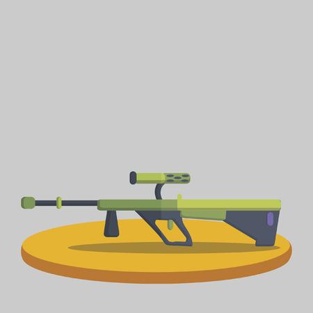 Illustration of a sniper rifle Иллюстрация