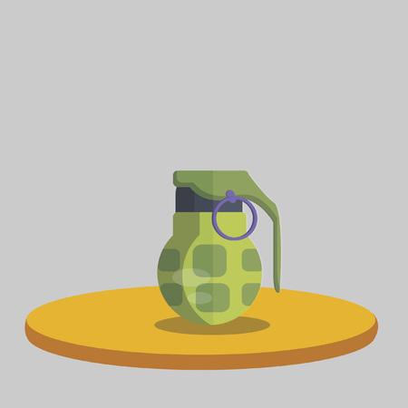 Illustration of a hand grenade