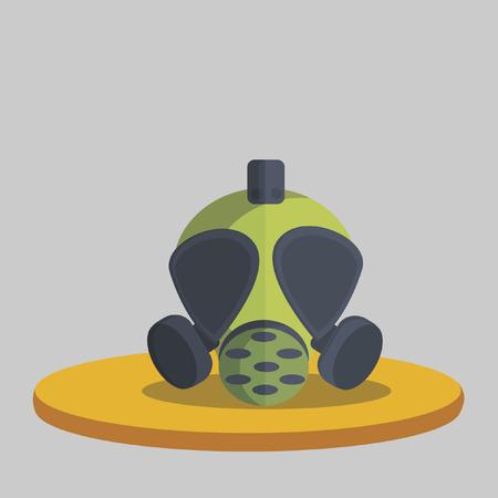 pollutants: Illustration of a gas mask
