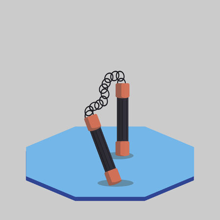 Illustration of a nunchaku Vector
