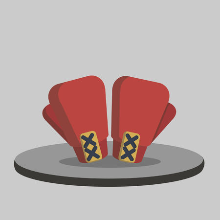 Illustration of a pair of boxing gloves Vector