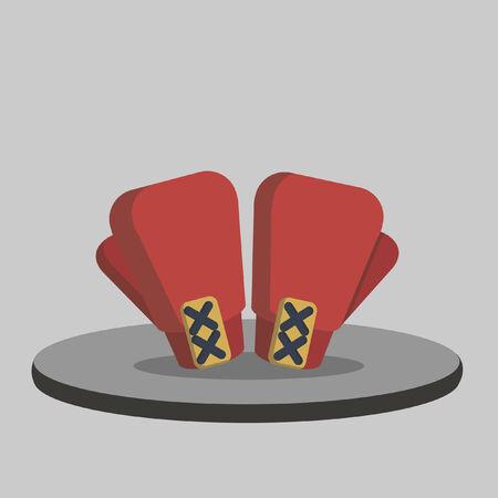 guantes boxeo: Ilustraci�n de un par de guantes de boxeo