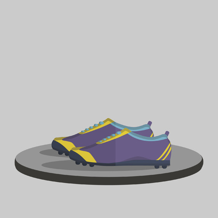 Illustration of a pair of sports shoes