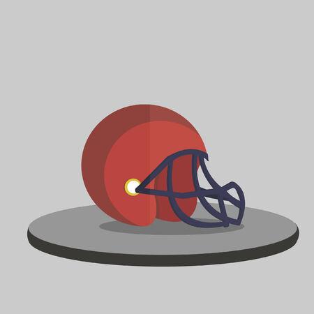 Illustration of a sports helmet Ilustracja