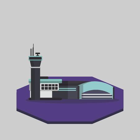 air traffic: Ilustraci�n de un aeropuerto
