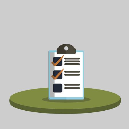 checklist: Illustration of a checklist board Illustration