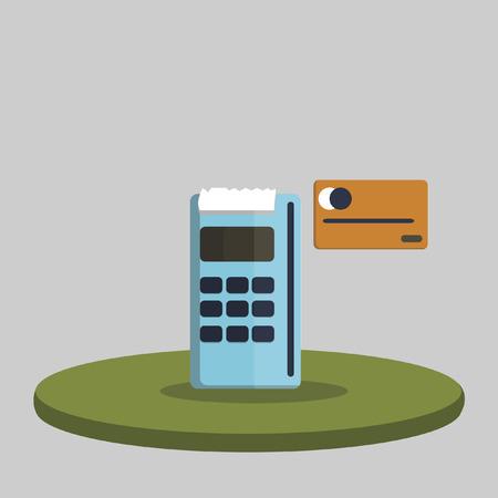 Illustration of a card swipe machine