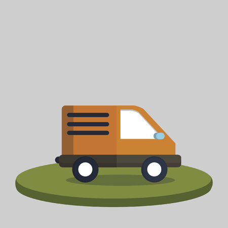 Illustration of a delivery van Vector