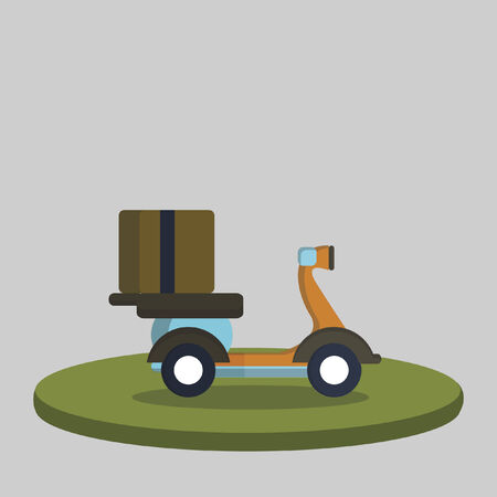 Illustration of delivery scooter