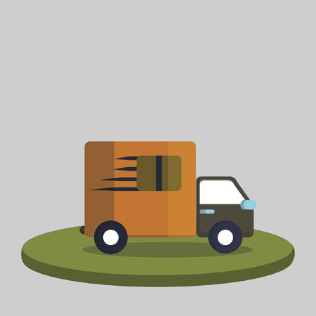 Illustration of a delivery truck Vector