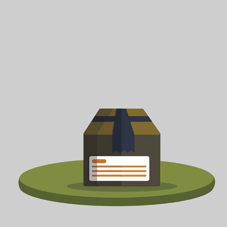 Illustration of a parcel