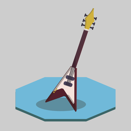 Illustration of an electric guitar Vector