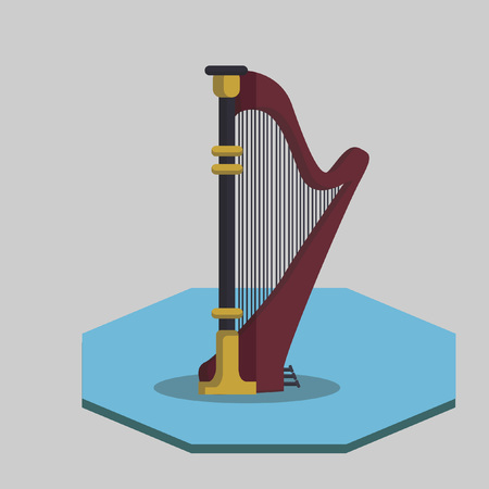 Illustration of a harp Vector