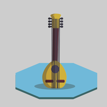 mandolin: Illustration of a mandolin