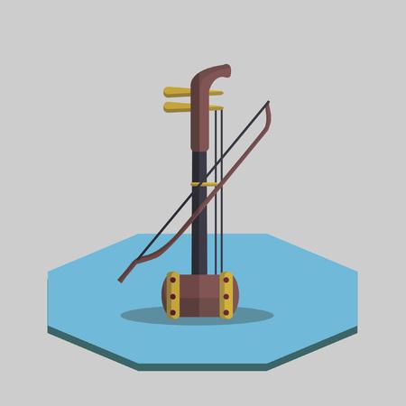 二胡のイラスト  イラスト・ベクター素材