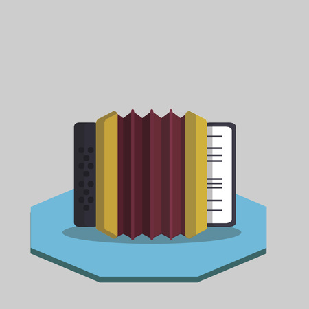 Illustration of an accordion Vector
