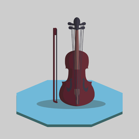 Illustration of a violin Vector