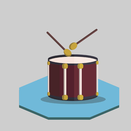 Illustration of a drum Vector