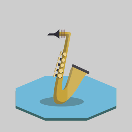 Illustration of a saxophone Vector