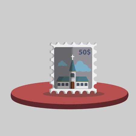 Illustration of a postage stamp