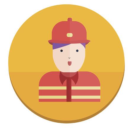 Illustration of a fireman Vector